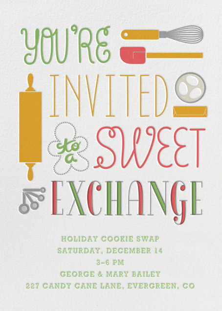 Sweet Exchange - Crate & Barrel - Holiday party