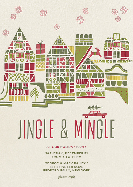 Holiday Town - Crate & Barrel - Christmas party