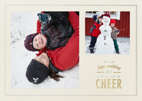 Figgy Cheer - Metallics - Paperless Post - Holiday cards
