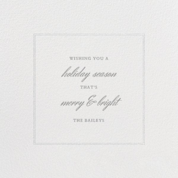 Honeycomber (Square) - Silver - Paperless Post - null - card back