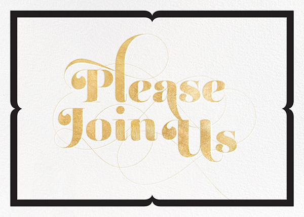 Please Join Us - Gold - bluepoolroad - Winter entertaining