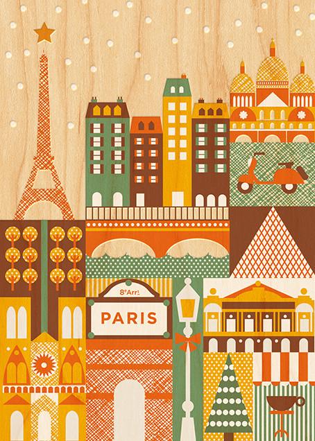 Snowy Paris - Petit Collage - null