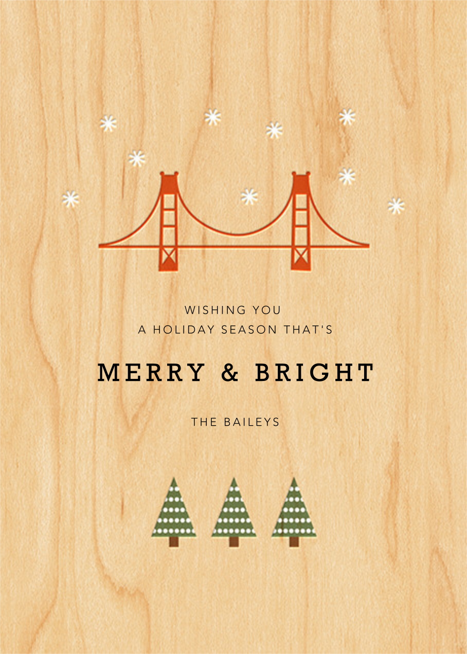 Starry San Francisco - Petit Collage - Holiday cards - card back