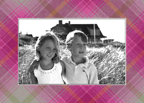 Tartan (Horizontal Photo) - Hot Pink - Oscar de la Renta