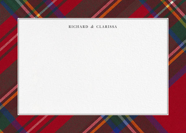 Tartan (Stationery) - Carnation - Oscar de la Renta - Wedding