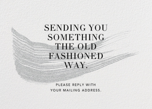 Genius - Kelly Wearstler - Address collection cards