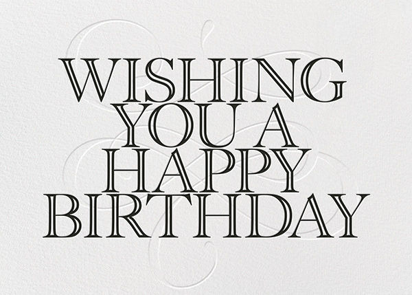 Wishing You A Happy Birthday - Black - Paperless Post - Birthday