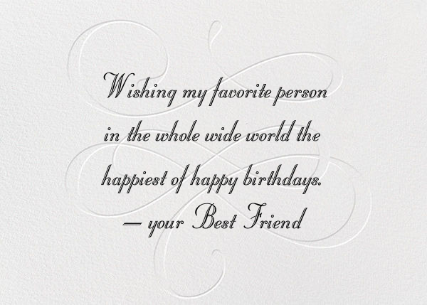 Wishing You A Happy Birthday - Black - Paperless Post - Back