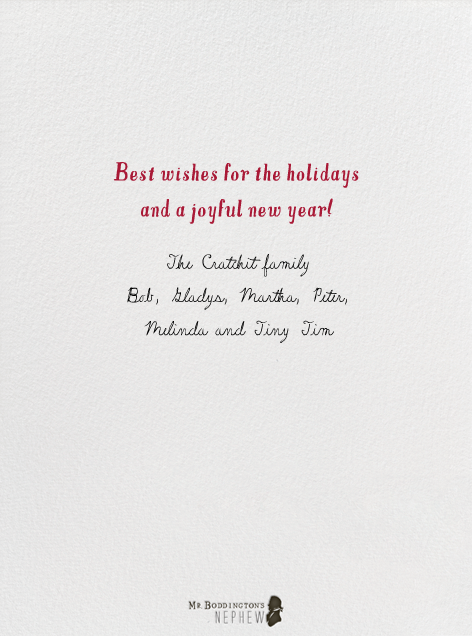 More Gin Please - Mr. Boddington's Studio - Holiday cards - card back