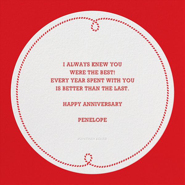 Penguin Love ll - Jonathan Adler - Anniversary - card back
