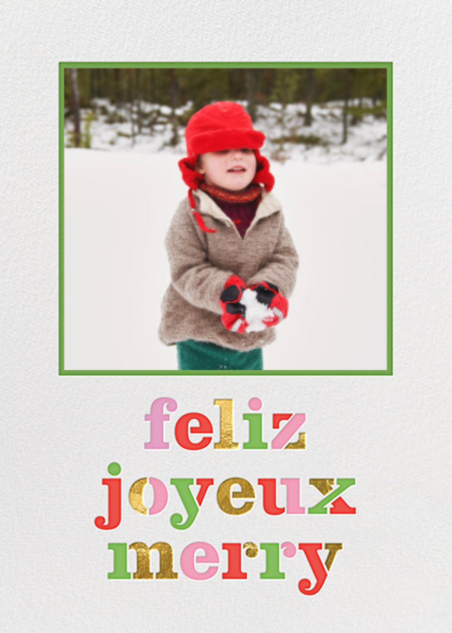 Feliz Merry Joyeux - kate spade new york