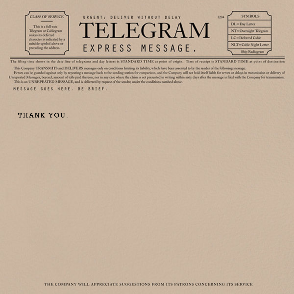 Telegram - Thank You - Paperless Post - Thank you