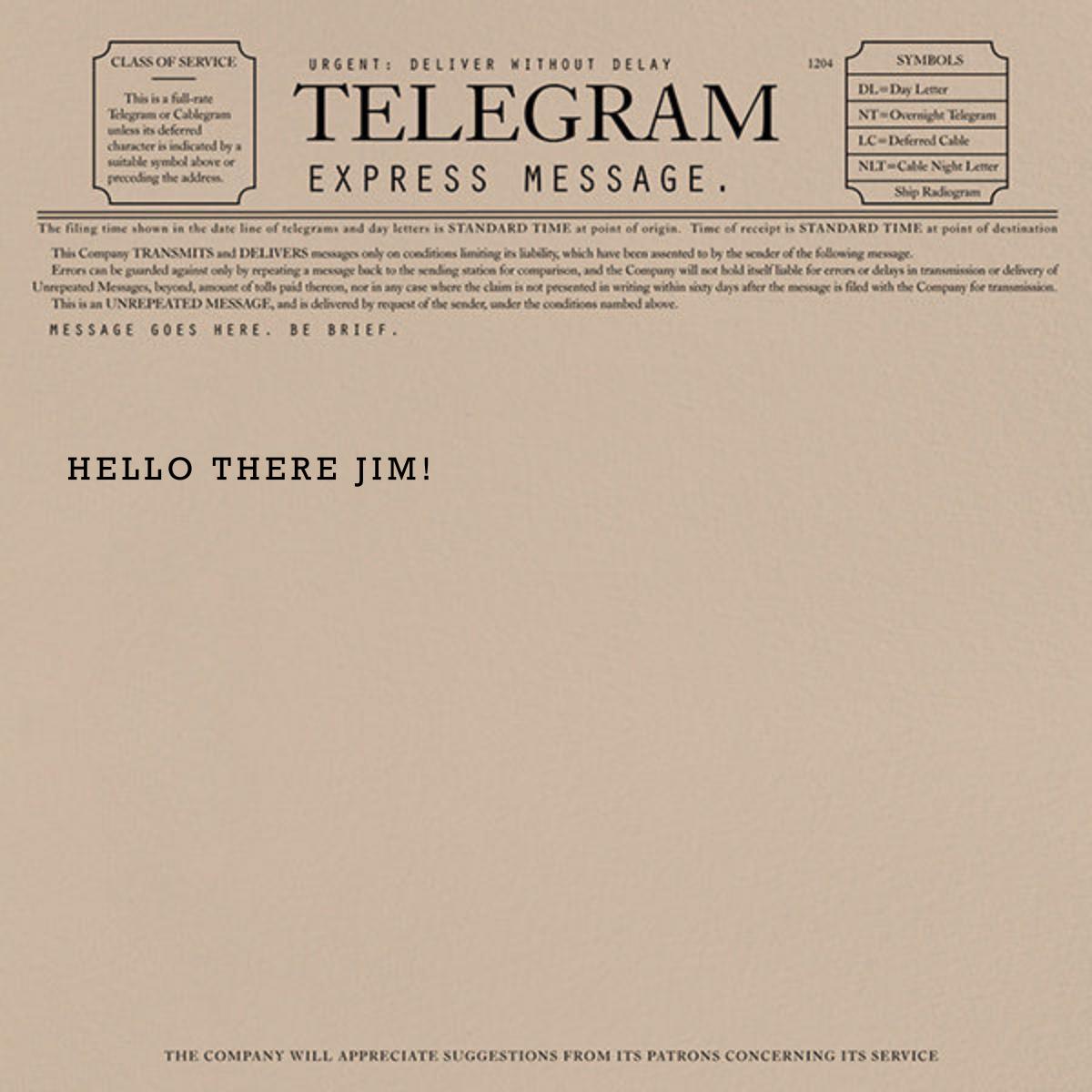 Telegram - Just Because - Paperless Post - Just because