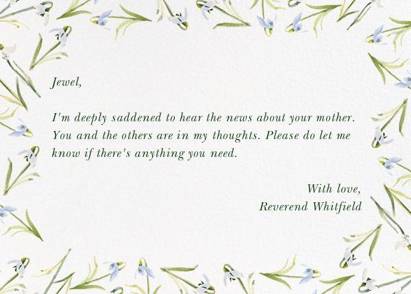 Snowdrop - Sympathy - Paperless Post - Sympathy