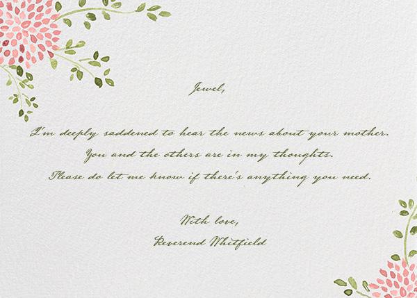 Dahlias (Thank You) - Blossom - Paperless Post - Sympathy