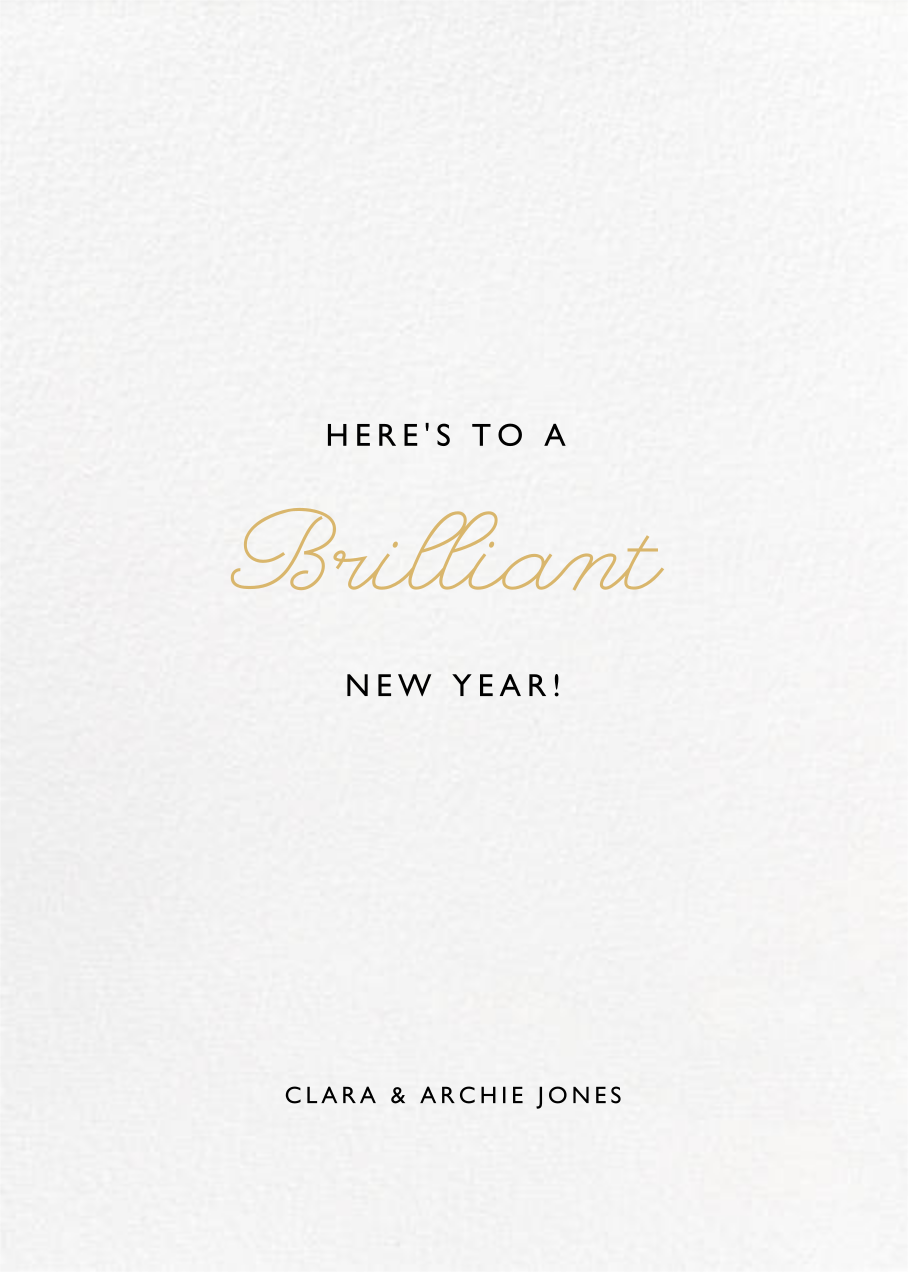 La Goulette Disco - White/Gold - Paperless Post - New Year - card back