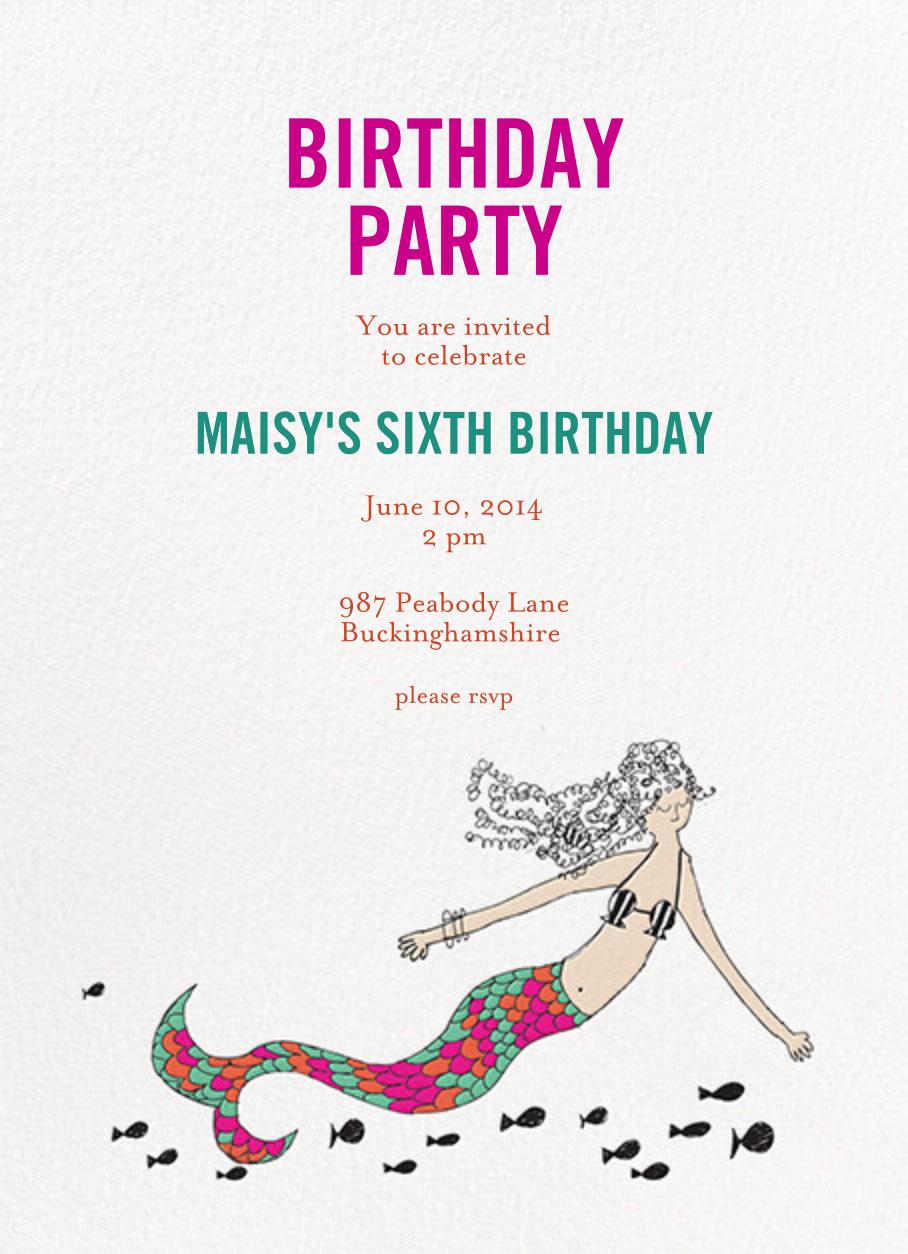 A Cupcake for the Mermaid - Fair - Mr. Boddington's Studio - Mermaid birthday invitations