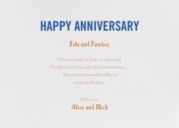 Bird Seed - Blue - Mr. Boddington's Studio - Anniversary - card back