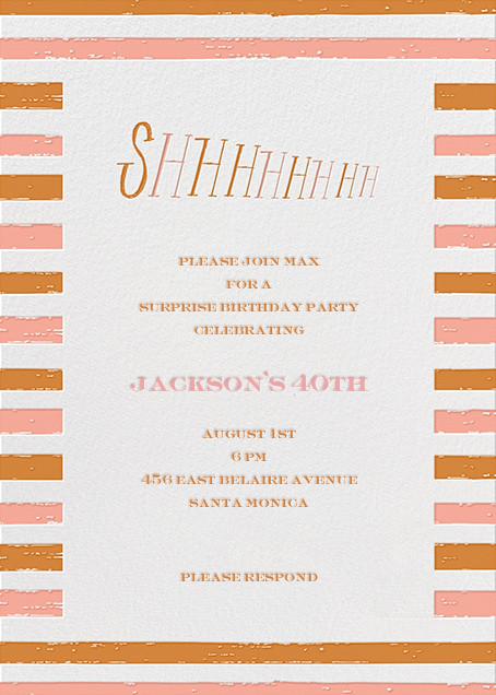 Shhhhhhh! - Orange - Mr. Boddington's Studio - Adult birthday