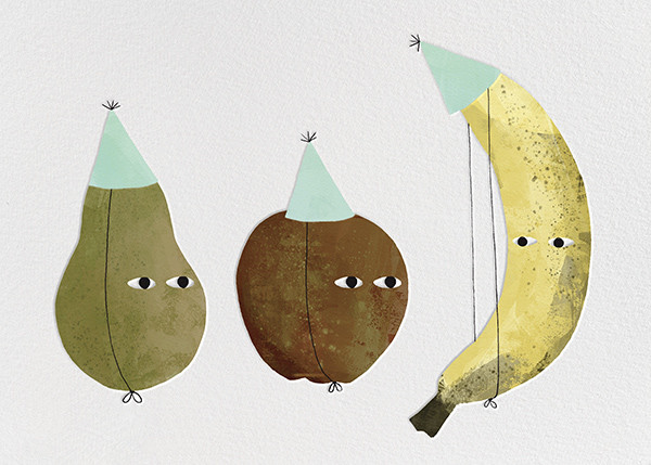 Fruit Party (Jon Klassen) - Red Cap Cards - Birthday