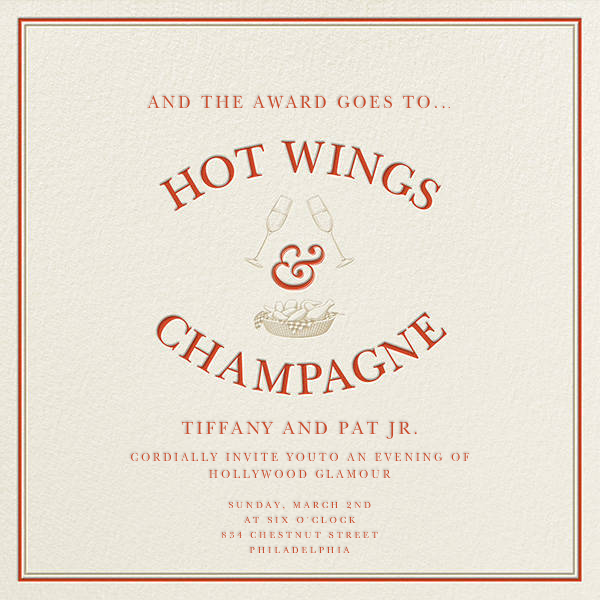 Hot Wings and Champagne - Derek Blasberg - Viewing party