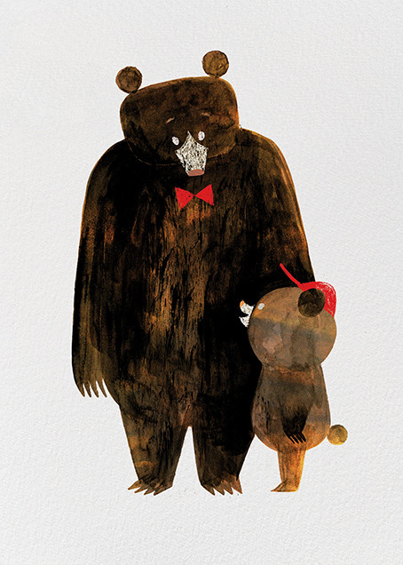 Daddy Bear (Chris Sasaki) - Red Cap Cards - Father's Day