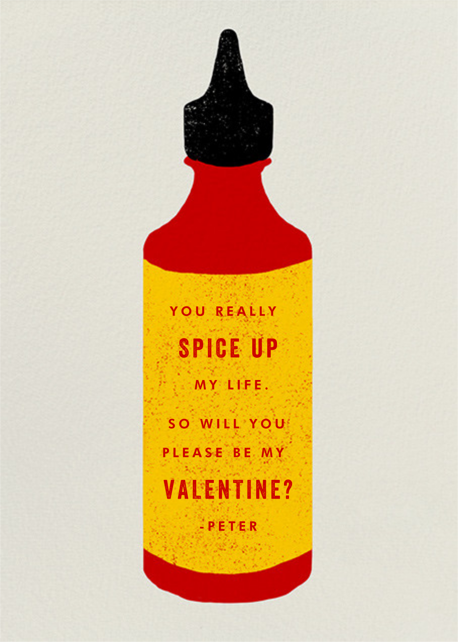 Hot Sauce - Paperless Post - Valentine's Day - card back