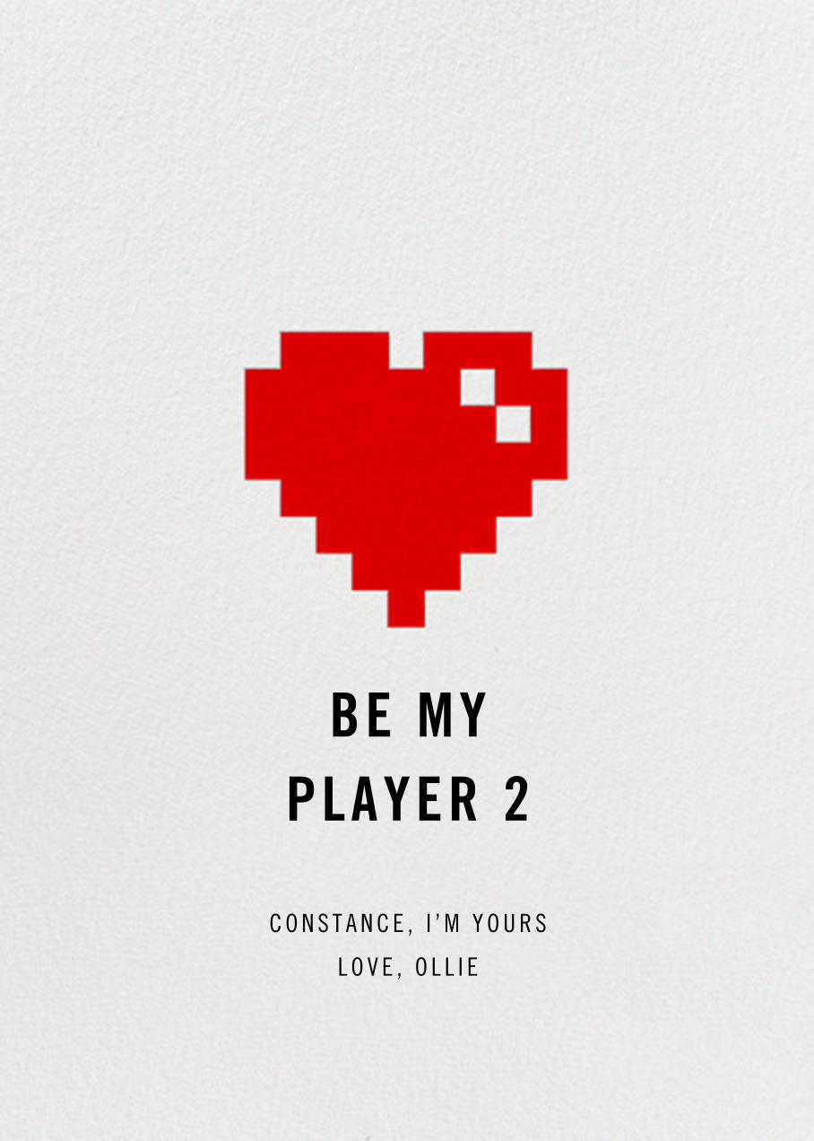 8Bit Heart - Paperless Post - Love cards