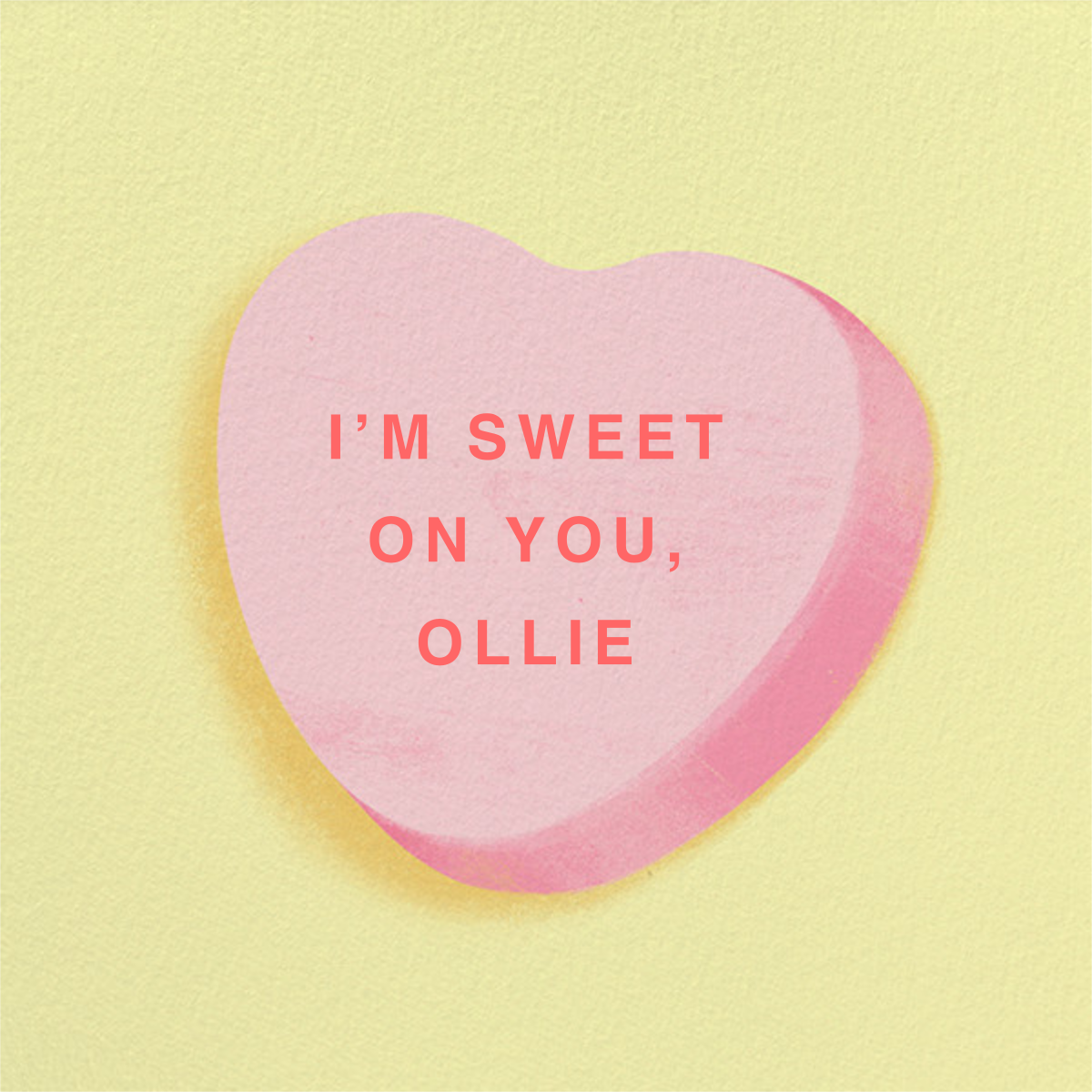Don't Break My Candy Heart - Pink - Paperless Post