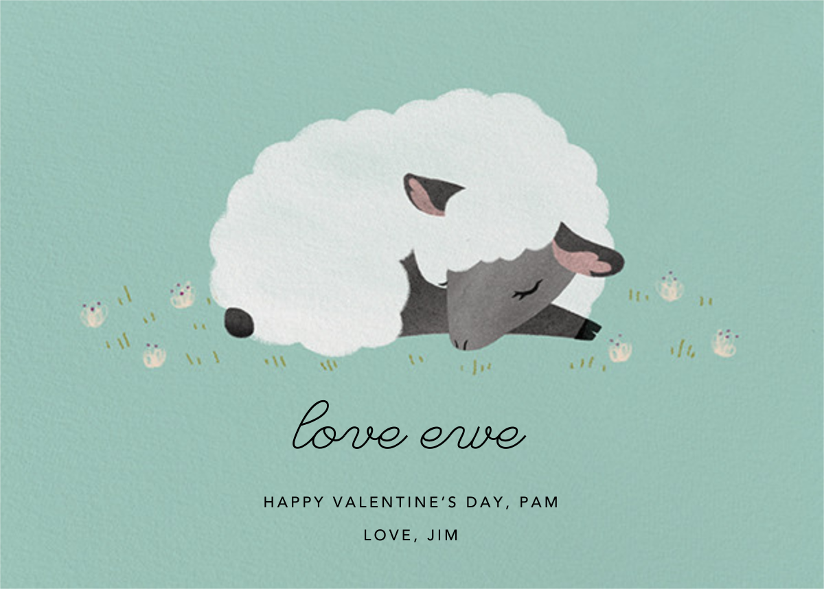 Love Ewe - Celadon - Paperless Post - Valentine's Day