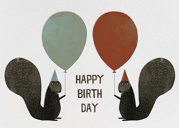Party Squirrels (Jon Klassen) - Red Cap Cards - Birthday