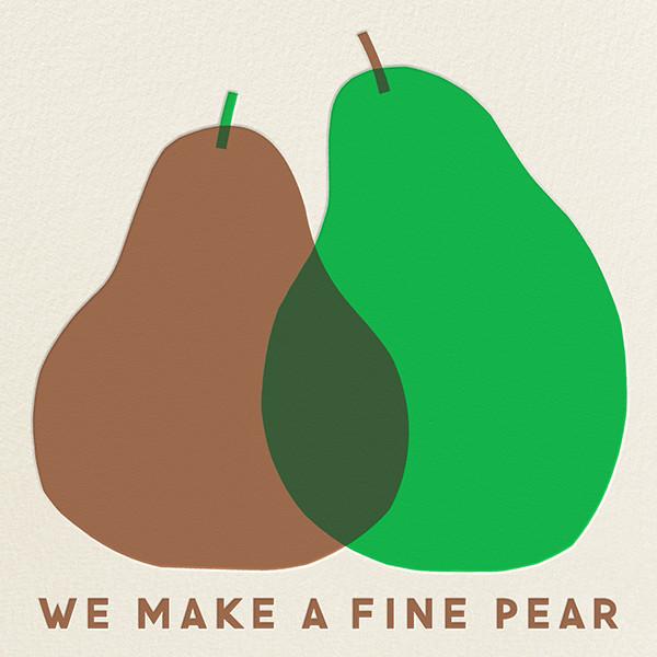 A Fine Pear - The Indigo Bunting - Valentine's Day