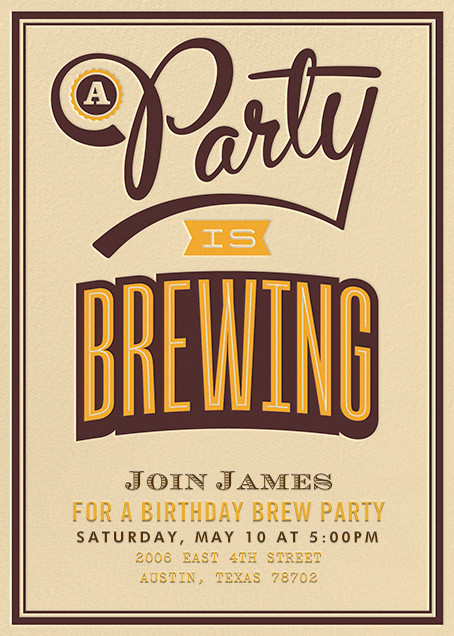 a party is brewing online at paperless post