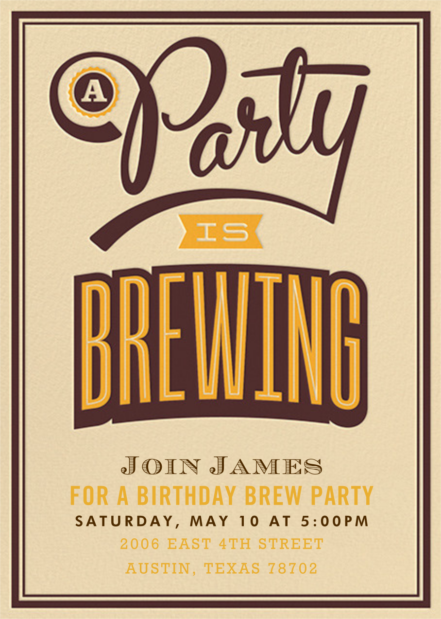 A Party Is Brewing - Crate & Barrel - Adult birthday