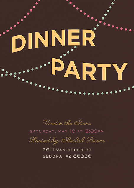 A Dinner Party - Crate & Barrel - Dinner party