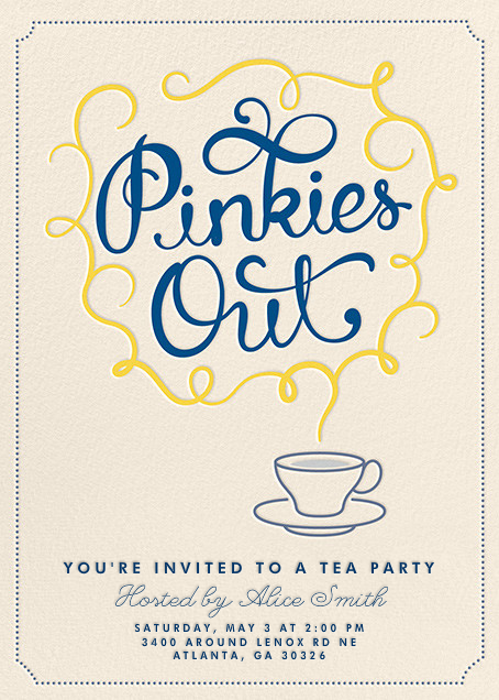 Pinkies Out - Crate & Barrel - Bridal shower