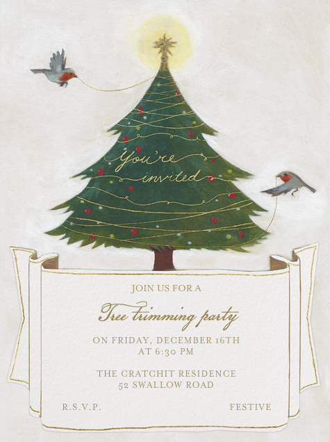 Tree Trimming - You're Invited - Paperless Post - Christmas party