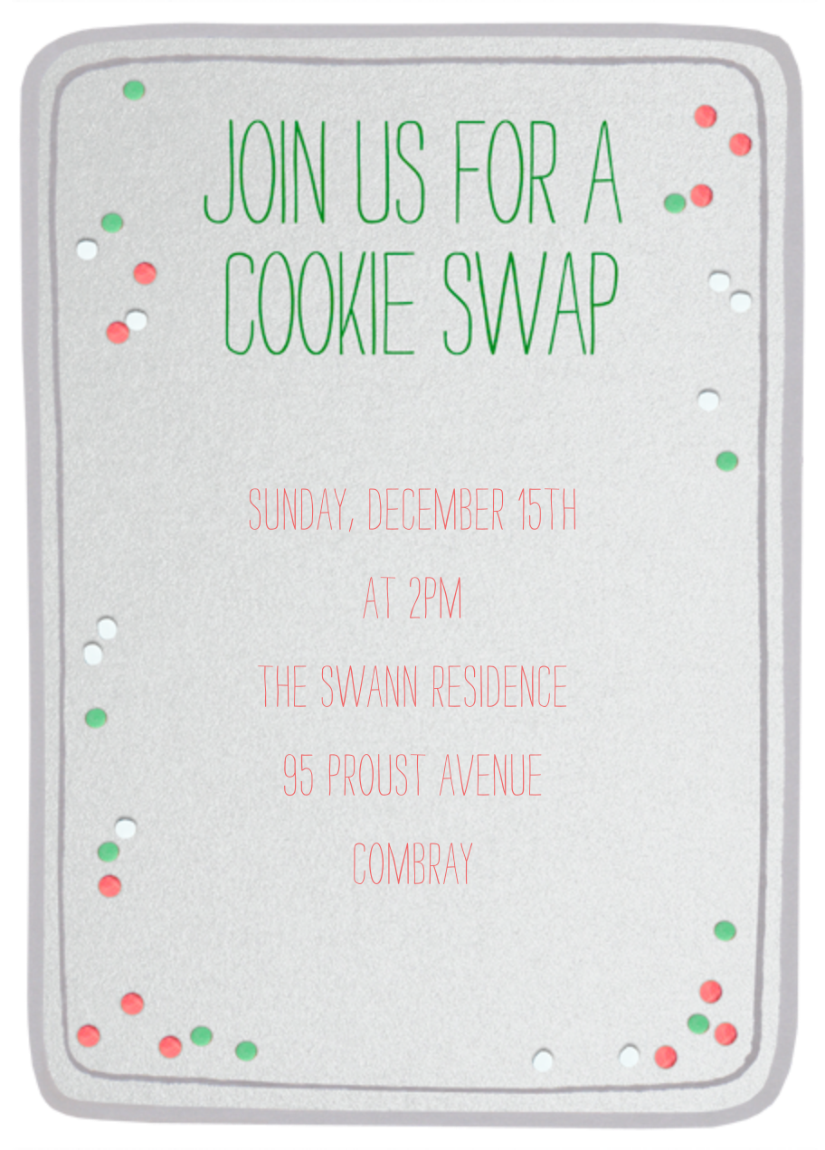 Cookie Tray - Paperless Post - Cookie swap - card back