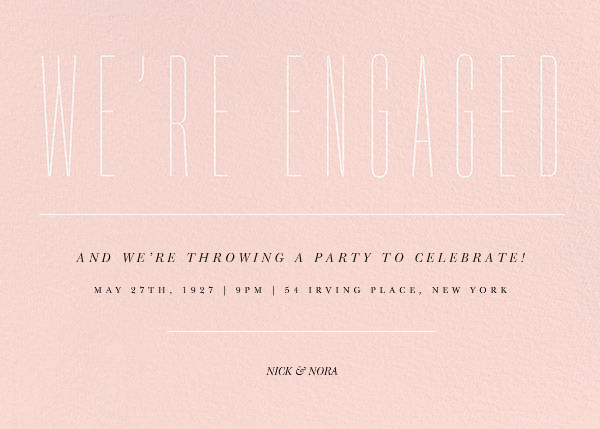Narrows - Paperless Post - Engagement party