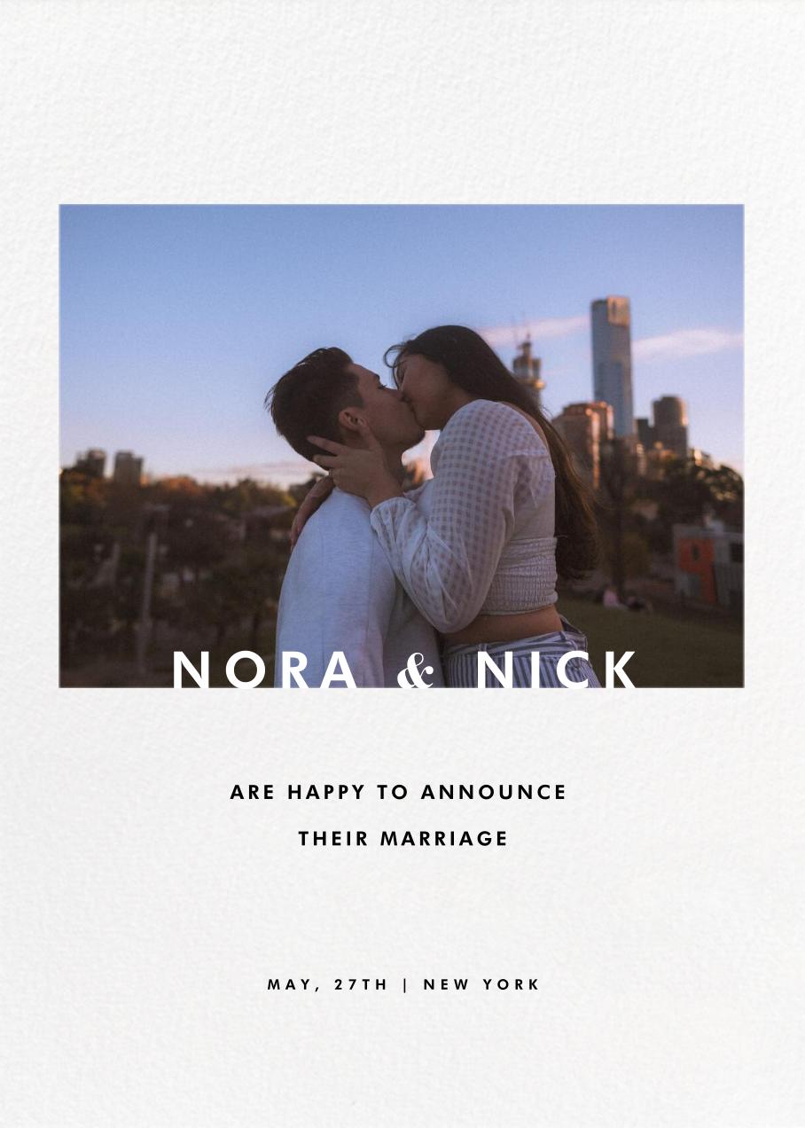 Horizontal Photo on Tall - Paperless Post - Wedding