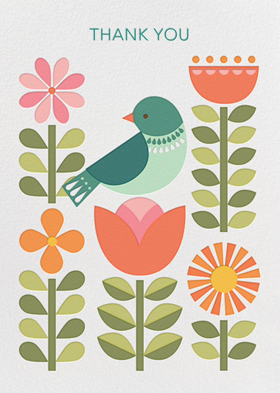 Blue Bird - Petit Collage - Thank you