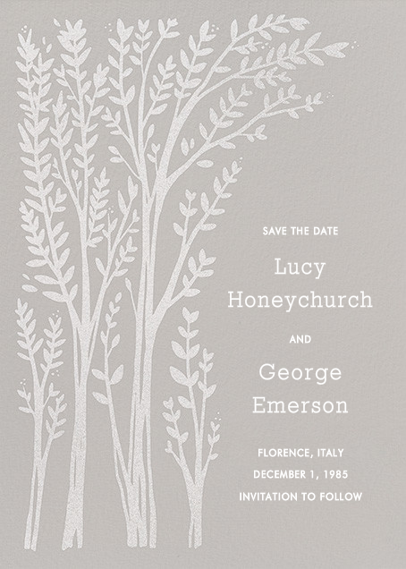Louisa II (Save The Date) - Gray - Paperless Post - Party save the dates