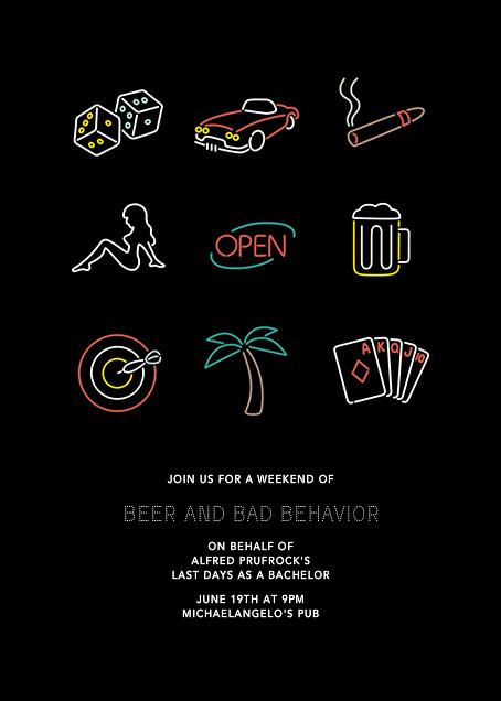 Neon Lights - Bachelor - Paperless Post - Bachelor party
