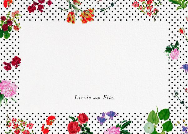 Botanical Dot - White (Thank You) - Oscar de la Renta - Personalized stationery