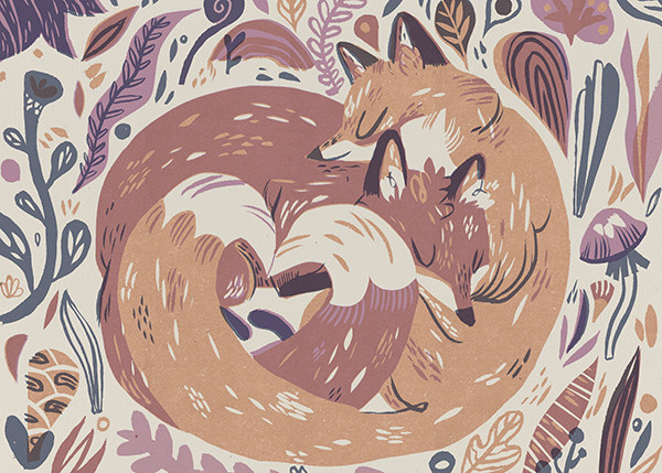 Fox Love (Meg Hunt) - Red Cap Cards - Mother's Day