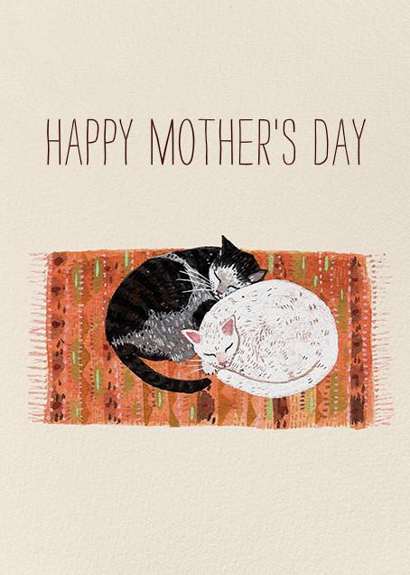 Cat Cuddle (Becca Stadtlander) - Red Cap Cards - Mother's Day