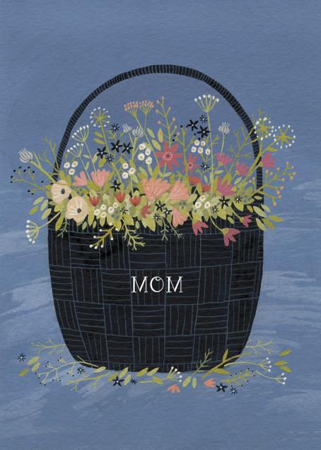 Flower Basket (Yelena Bryksenkova) - Red Cap Cards - Mother's Day