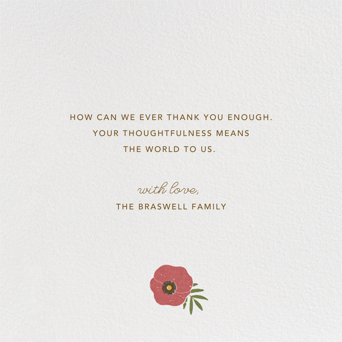 Gathered Bouquet - Paperless Post - Thank you - card back