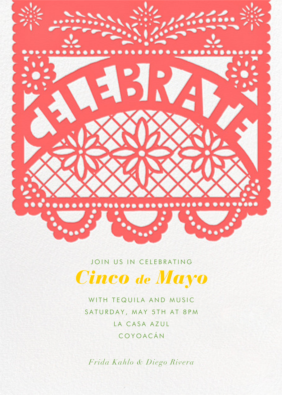 Papel Picado Celebration - Paperless Post - Cinco de Mayo