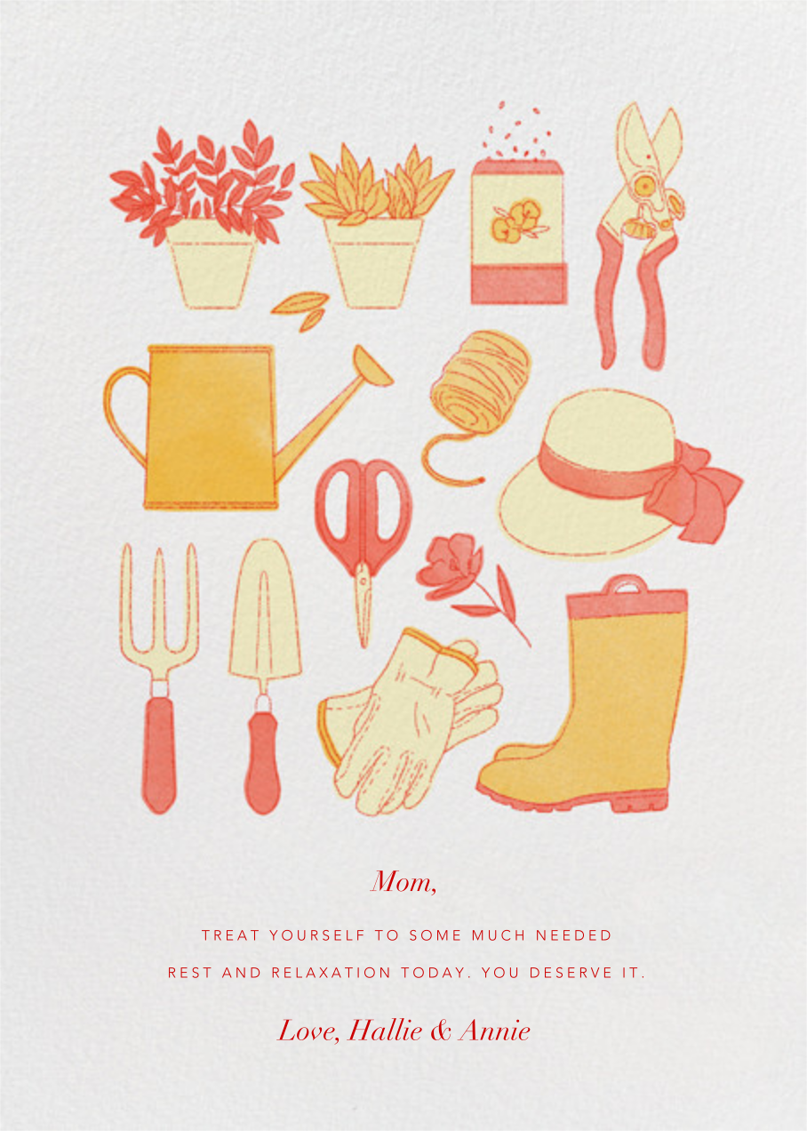 Gardening Tools - Paperless Post - Mother's Day